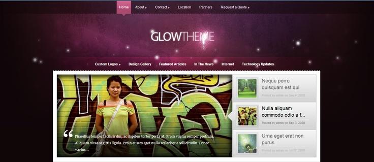 Elegant theme - Glow