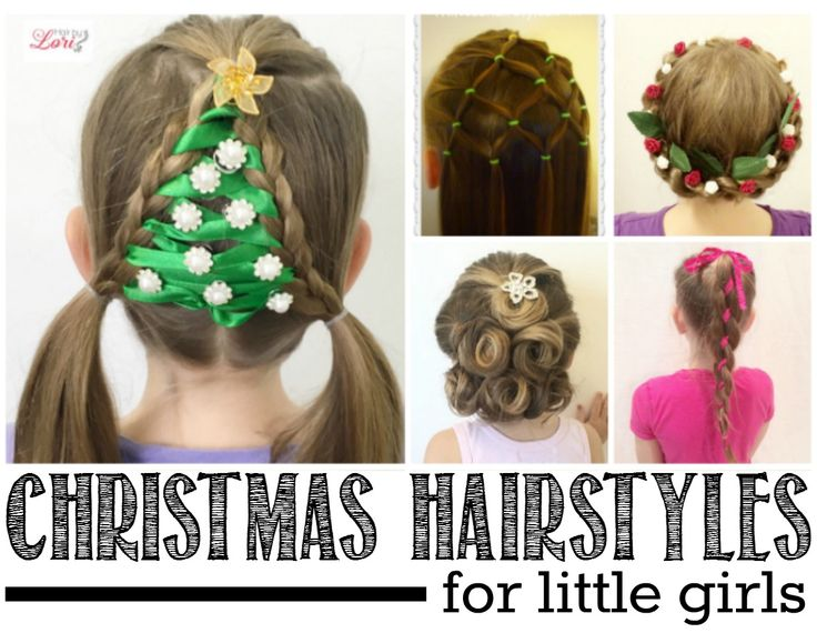 Even the most novie hairstylist can tackle these 20 easy Christmas hairstyles for little girls... which is your favorite? I love the Christmas tree...