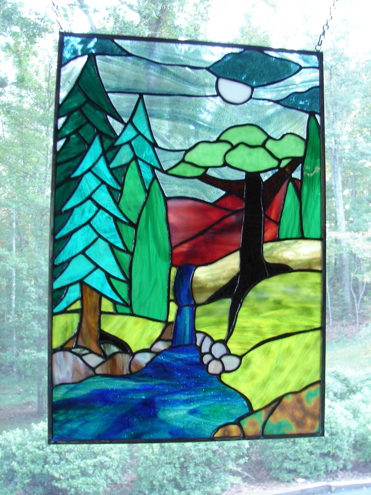 1211 best stained glass images on pinterest stained for Glass waterfall design