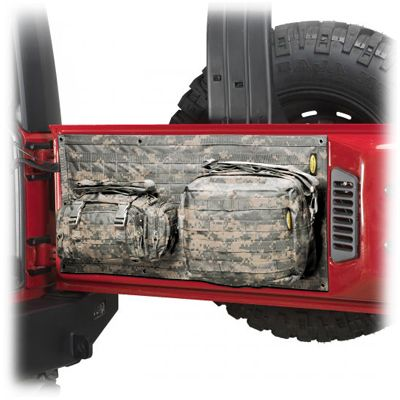 Jeep® Storage - Smittybilt® - SB 5662301 - Smittybilt® G.E.A.R. Tailgate Cover for 07-up Jeep® Wrangler & Wrangler Unlimited JK and other Jeep Wrangler Parts, Jeep Accessories and Soft Tops by FORTEC