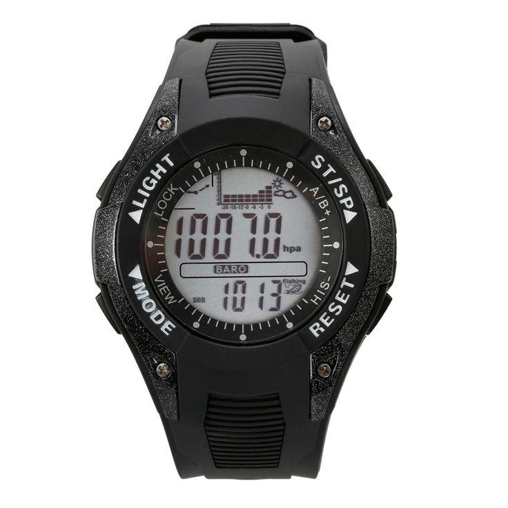SUNROAD FX702A Barómetro Pesquero Reloj Multifuncional Barómetro Altimetro Termómetro Reloj Elegante