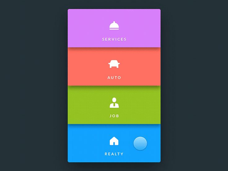 Mobile Menu UI Inspiration