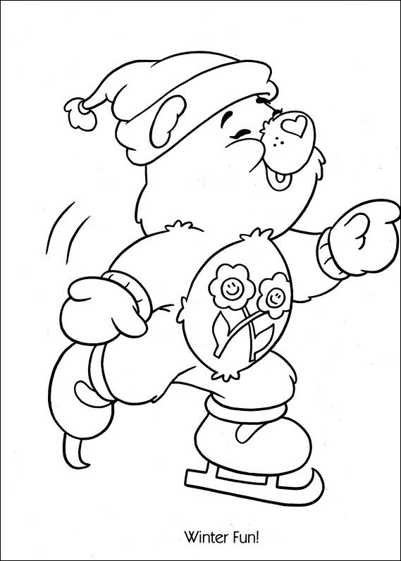 Happy Play Ice Skating Coloring For Kids Find This Pin And More On Care Bears Sheets