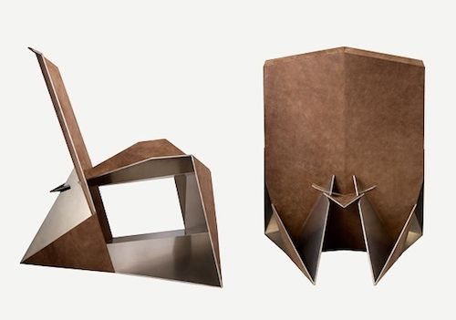 Faltsessel Folding Lounge Chair In Leather