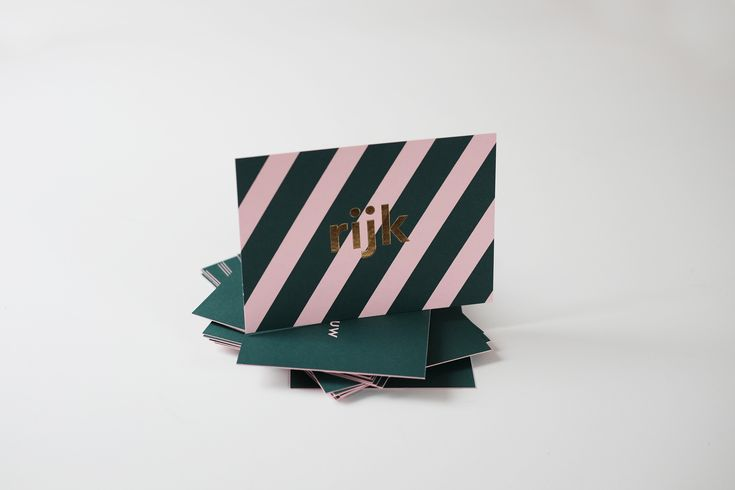 RIJK birthannouncement letterpress card with goldfoil by studio sijm