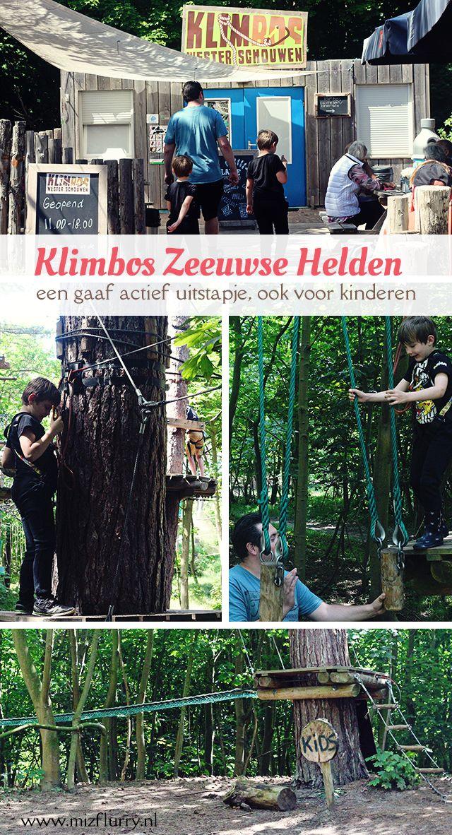 Review van een bezoekje aan  het Klimbos Zeeuwse Helden in Westenschouwen. Onze jongens deden het kids parcours.
