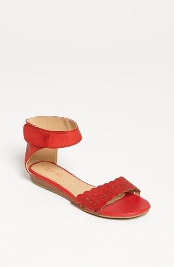 Cute cutouts delight on the toe strap of a demure demi-wedge sandal. Color(s): green, luggage, orange, red. Brand: LIL MIZ. Style Name: Lil Miz 'Ann' Sandal (Little Kid & Big Kid). Style... More Details