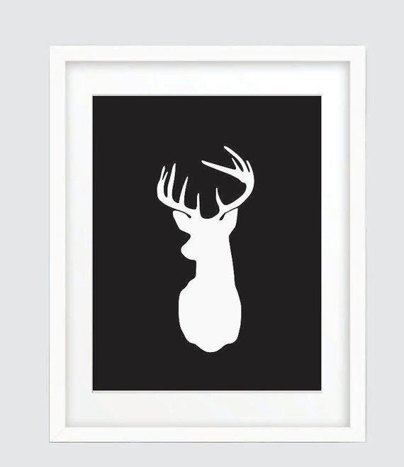 Deer Head Wall Art best 10+ white deer heads ideas on pinterest | faux deer head