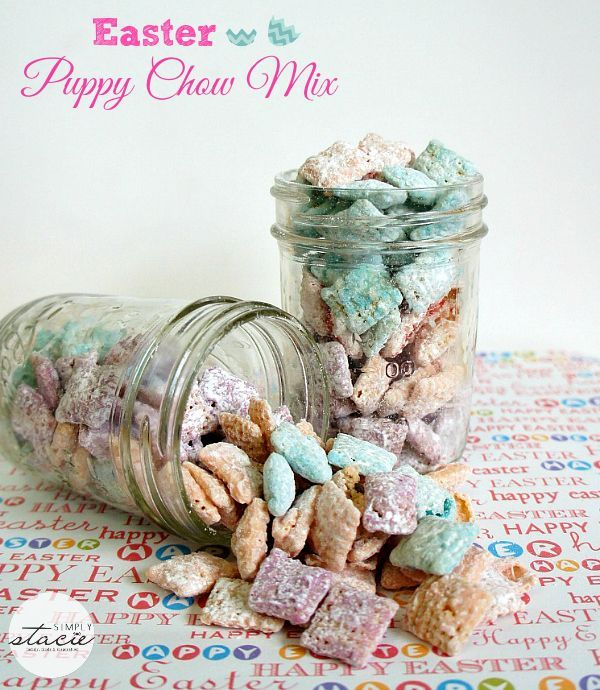 Easter Puppy Chow Mix recipe - Munch away on this sweet snack!
