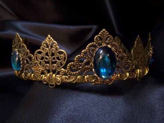 Igraine Brass Antique Gold Filigree Tiara by RecycledRockstah, $80.59