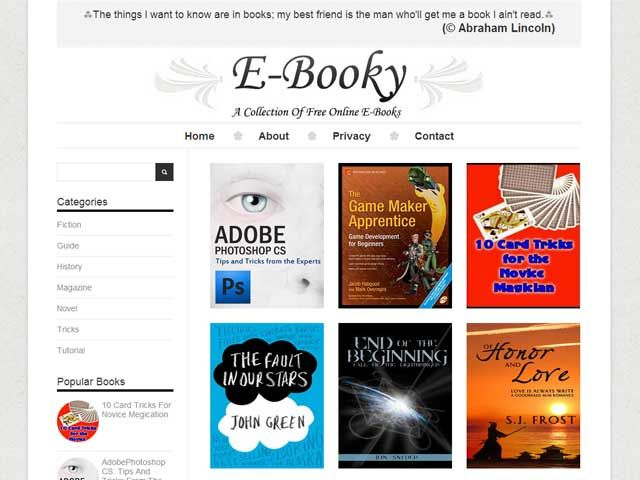 "E-Booky: A Free Premium Responsive Blogger Template:  A 100% Free Premium Blogger Template Named As ""E-Booky"". A Free Grid Style Post Fixed And Mobile Layout Codings With Full Of SEO And SMO Codes And Also With A Better User Interference And Design On Basis Of Showroom With A Lot Of Plugin And Important Codes Added.  Template: www.exeideas.com/2014/04/ebooky-free-premium-responsive-blogger-template.html Tags: #Blogger #Blogspot #Template #BloggerTemplate #FreeTemplate #BlogTemplate"