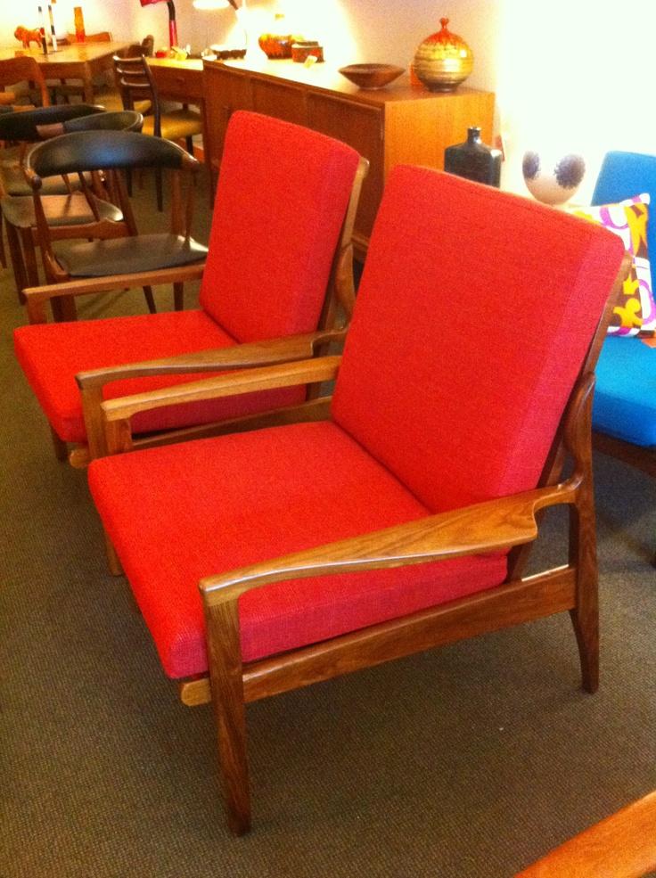 FLER armchair fully restored pair
