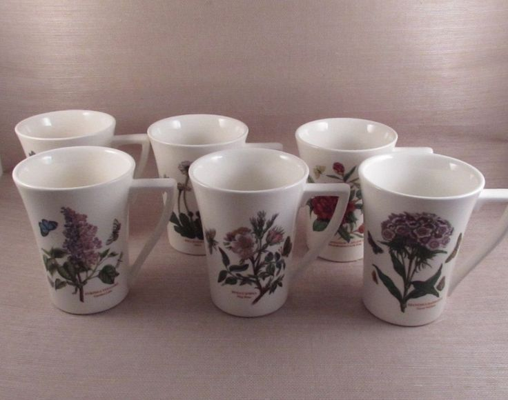Portmeirion China BOTANIC GARDEN Mandarin Mugs - Set of Six  #Portmeirion