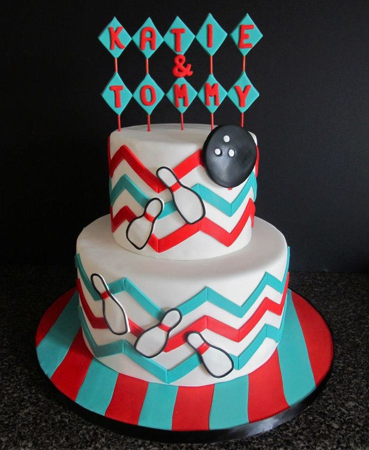 Bowling Theme Cake by Little b Cakes