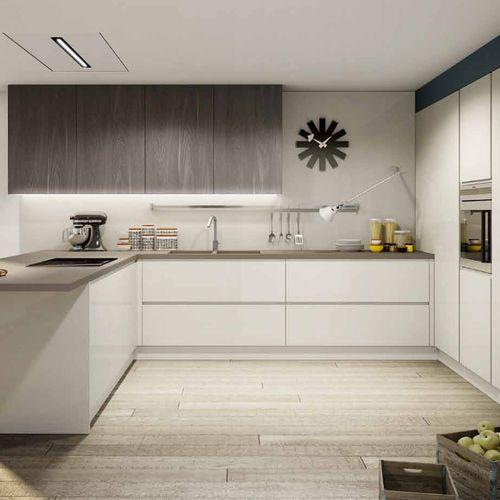 Contemporary kitchen / melamine / U-shaped / lacquered BRERA BERLONI