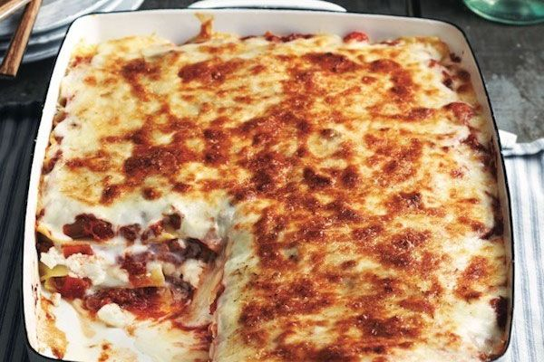 Classic lasagna and Bolognese sauce