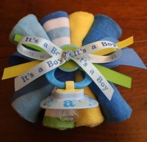 Baby Shower Washcloth Corsage by PitterPatterBliss on Etsy