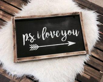Valentine's wooden sign