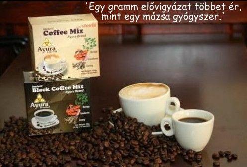 Ayura Herbal Instant fekete kávé és cappuccino :: Éljünk Egészségesen