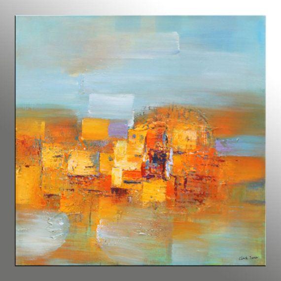 Olieverf schilderij Abstract, originele kunst, hedendaagse kunst, badkamer muur Decor, Abstract olieverfschilderij, vierkant schilderen, grote abstracte kunst