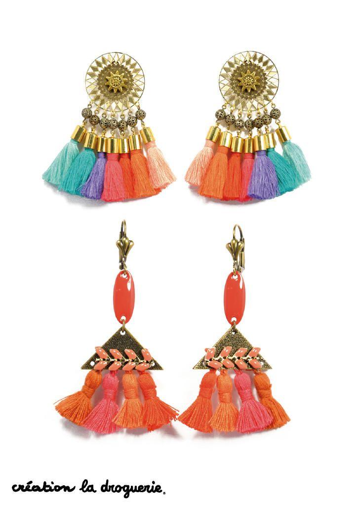 Cet été on porte des pompons à nos oreilles !! #ladroguerie #bijoux #bo