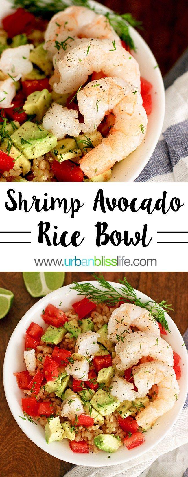 Shrimp Avocado Brown Rice Bowl