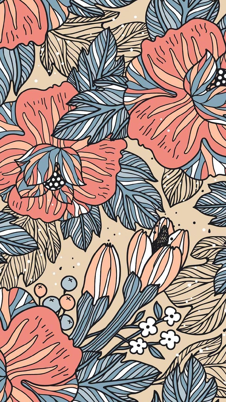 floral mobile wallpaper | color in 2019 | Iphone wallpaper ...