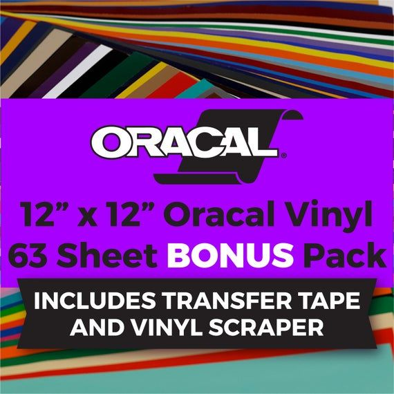 Oracal 651 Bonus Vinyl Pack 12x12 63 Vinyl Etsy In 2020 Vinyl Sheets Vinyl Oracal Vinyl