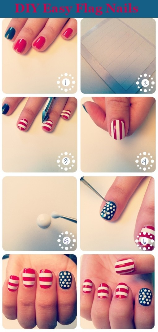 how to do easy fourth of july nails