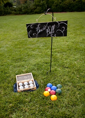 #LittleBorrowedDress ... Bocce and other lawn games during cocktail hour