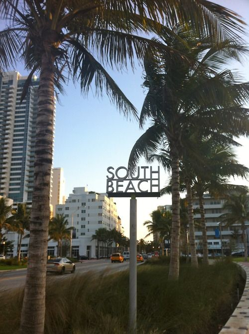 Welcome to the world famous South Beach.