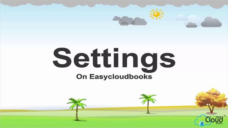 How to manage settings on easycloudbooks