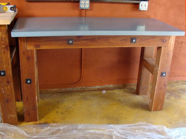 Concrete Countertop For A Workbench Garage Shelf Diy
