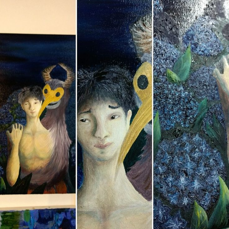 Pintando en @serendipia_taller_nunoa  #topopanda #illustration #ilustración #ilustracion #oleo #óleo