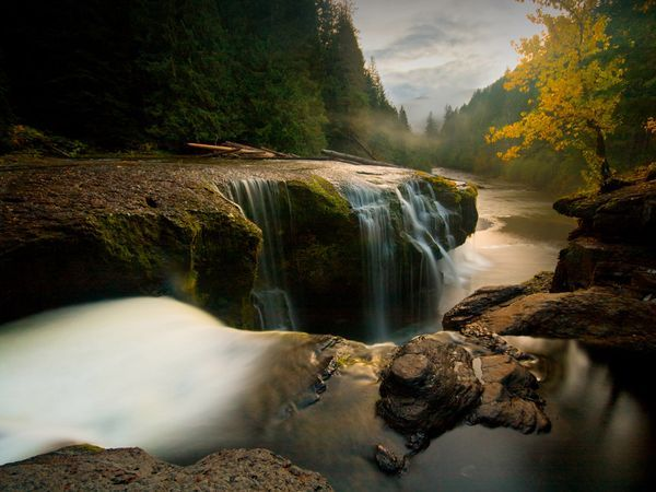 Lewis River falls.: Gifford Pinchot, National Forest, Lower Lewis, Waterfall, Rivers, Photo