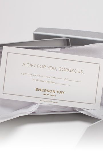 Emerson Fry   Boxed Gift Certificate