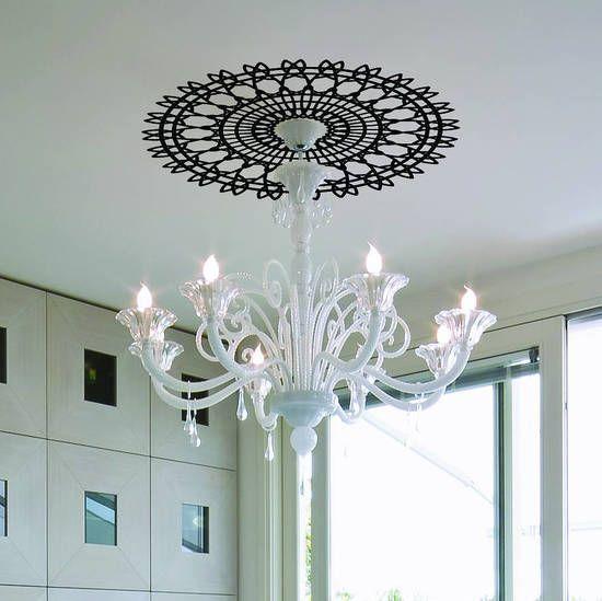 Декор потолка наклейками
