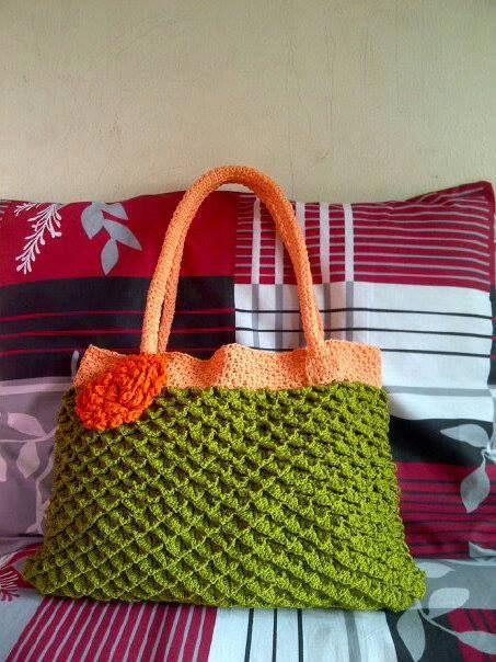 my pride. crocodile stitch bag.