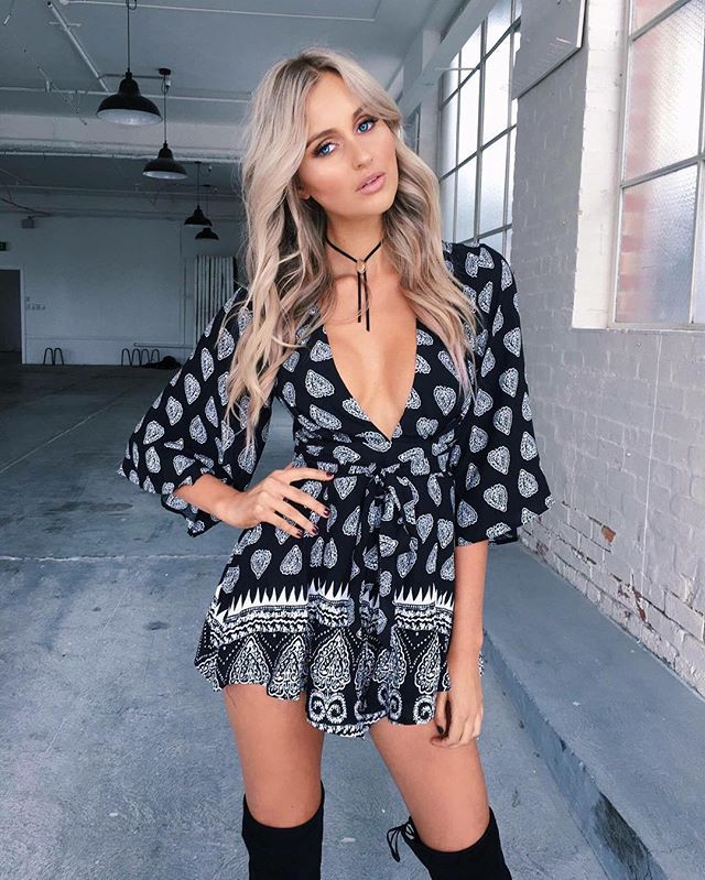 the 'Give me a try' Playsuit - exclusive to #tigermistthelabel  $69.95