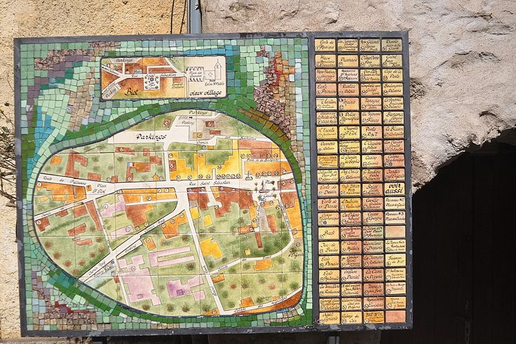 Biot is famously known as an 'art' town especially for its blown glass - but, like most French towns ceramics plays a big part - I loved this town map made from ceramic tiles... I also saw this type of town map in many other French towns....Biot in Provence-Alpes-Côte d'Azur #France #travel #ceramics #photography