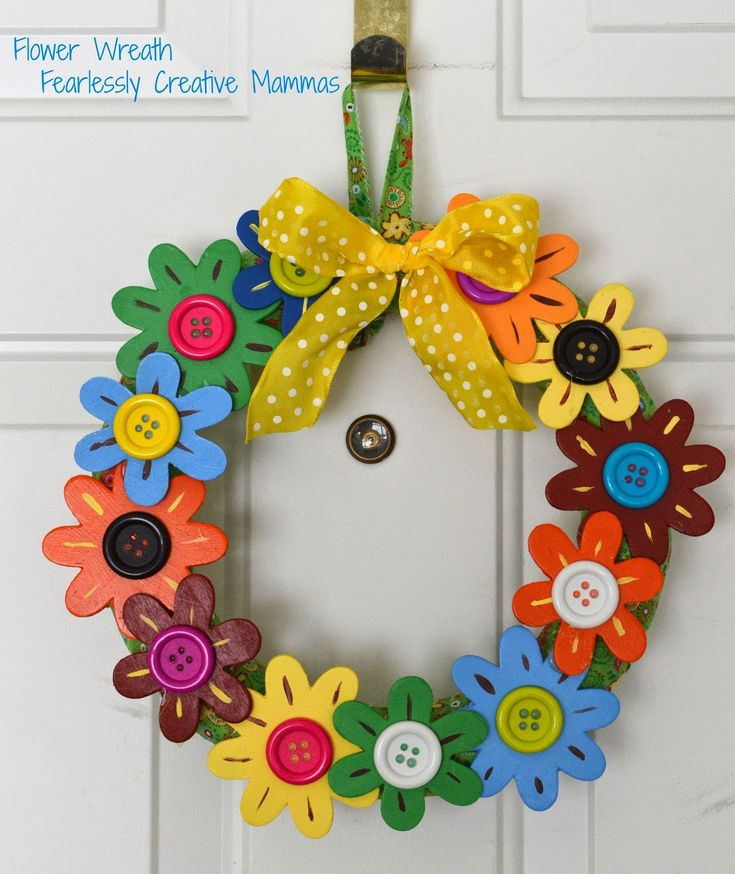 Fearlessly Creative Mammas: Flower Door Wreath