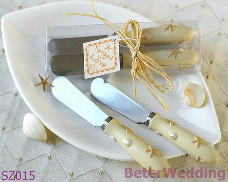 Spread The Love Set Of 2 Sand Shell Spreaders Wedding Souvenir Favor Decoration
