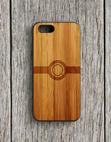 Pokemon Ball Wood Design iPhone 5 | 5S Case