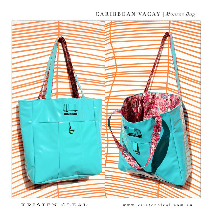 Monroe Bag by Kristen Cleal Designs  Caribbean Vacay 2014 Collection
