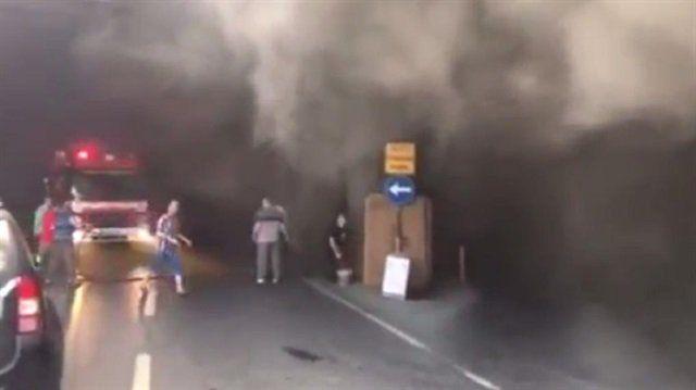 Saraçhane'deki bisikletçiler çarşısında yangın