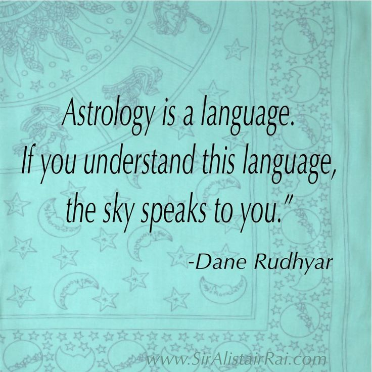 Astrology is a language