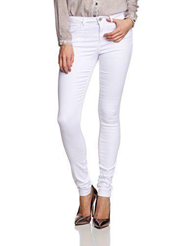 ONLY Damen Skinny Jeanshose onlROYAL REG JEANS NOOS, Gr. 40/L32 (Herstellergröße: L), Weiß