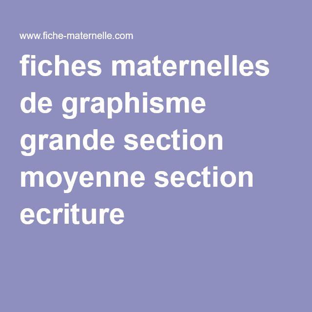 fiches maternelles de graphisme grande section moyenne section ecriture