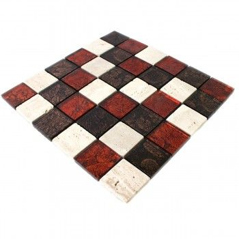 Die besten 25 glas mosaik fliesen ideen auf pinterest - Mosaik fliesen rot ...