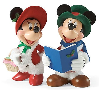 Mickey Mouse - Mickey and Minnie Carolers - Possible Dreams - World-Wide-Art.com